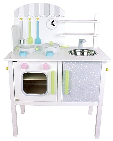 JaBaDaBaDo U0026quot;Spielkücheu0026quot; Weiß Pastell Kinderküche Töpfe Pfanne ...