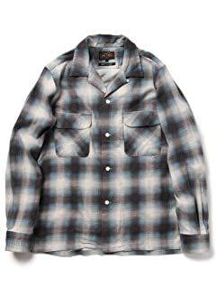 Ombre Flannel Camp Shirt 11-11-3443-139: Blue