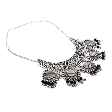 3b59be897 Buy Aradhya Afghani Designer Turkish Style Vintage Oxidised German Silver  Necklace for Women Online at Low Prices in India | Amazon Jewellery Store  ...