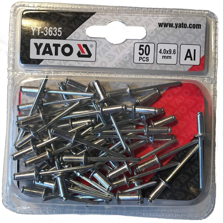 YATO YT-3635 remaches ciegos de aluminio 9.6x4.0mm