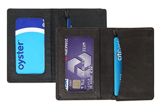 Amazon hide sleek mens slim leather credit card holder mini hide sleek mens slim leather credit card holder mini wallet combo colourmoves