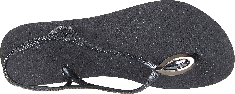 Havaianas Women's Luna Special Flip Flops Black/Black 39-40 M Bra gwqlmNQk