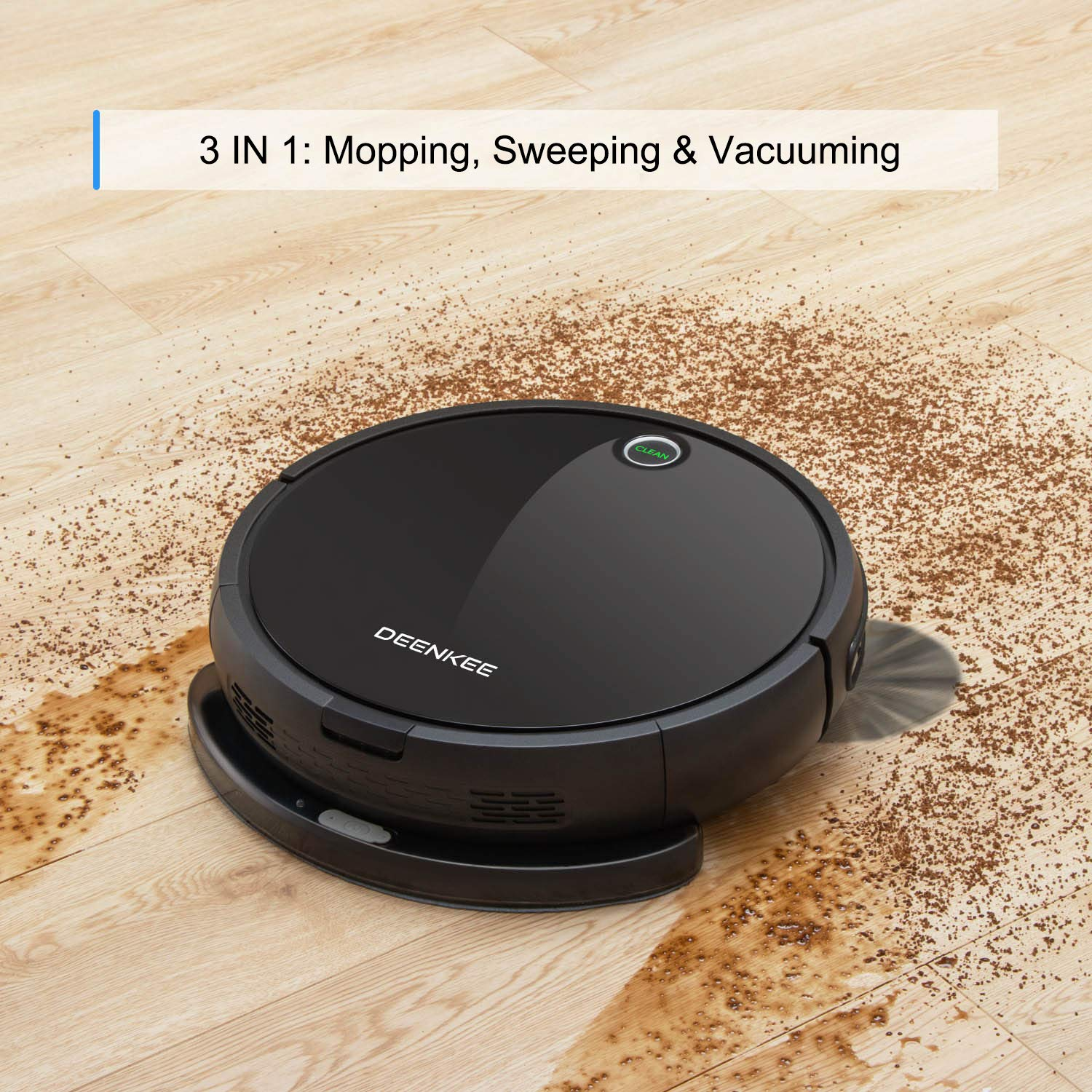 DEENKEE i7 Robot Vacuum and Mop, 3 in 1 Smart Robotic Vacuum Cleaner Automatic Sweeper for Pet Hair, Carpet, Hardwood Floors, Tile