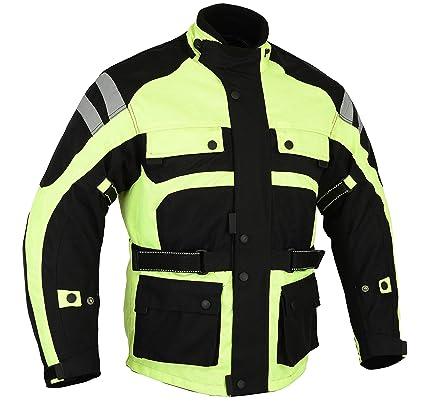 Bikers Gear - Chaqueta Impermeable para Motocicleta CE1621-1 Infinity Hi Vis Cordura. Brazo