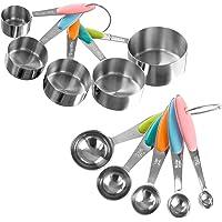 Classic Cuisine 82-KIT1036 - Juego de tazas y cucharas medidoras (acero inoxidable)