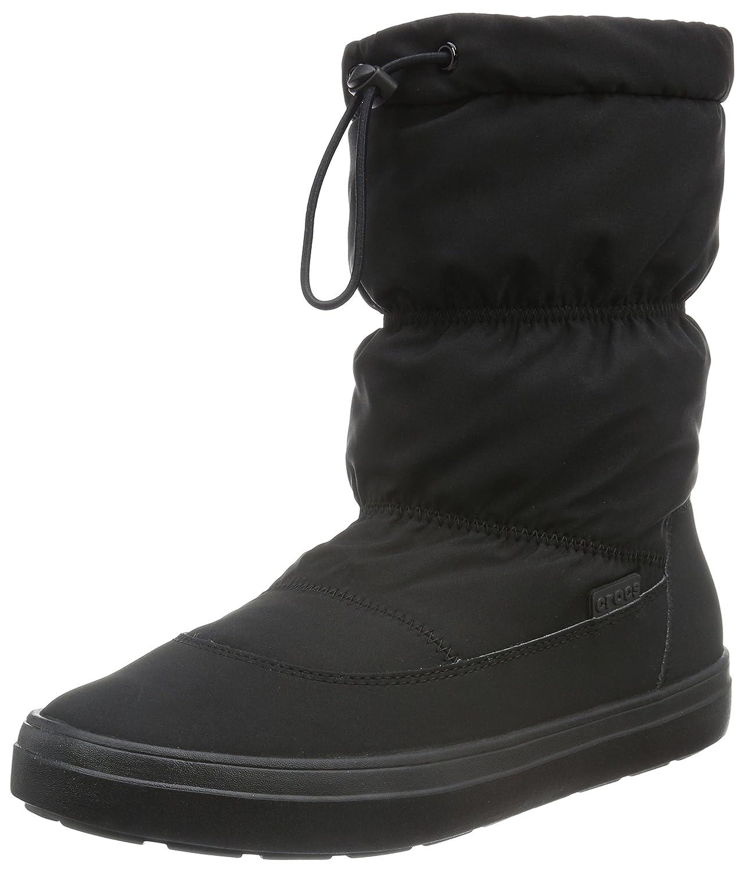 Crocs Women's Lodge Point Pull-On Snow Boot B01A6LMG40 9 M US|Black