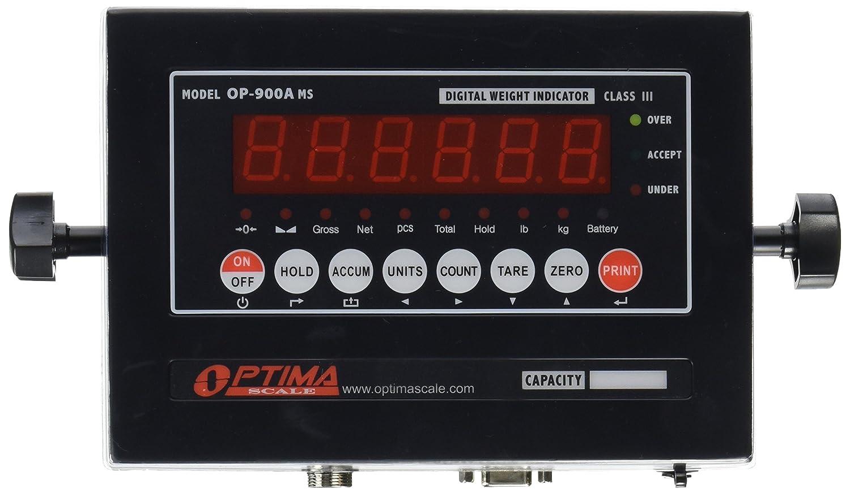 Optima escalas op-900 a-01 ntep (CC # 09 - 070 A1) Digital Indicador de peso, IP65, LED, Acero dulce: Amazon.es: Amazon.es