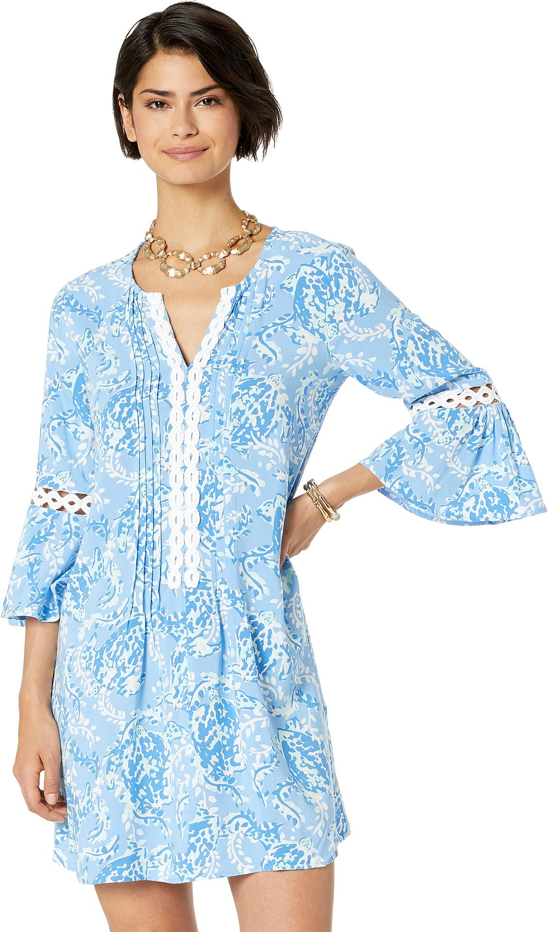 f69f29d55a4 Lilly Pulitzer Women's Hollie Tunic Dress Blue Peri Turtley Awesome XX-Small