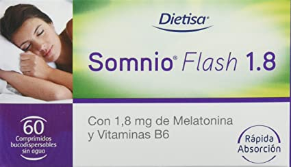 Dietisa Somnio Flash 1.8 , Comprimidos Bucodispersables Sin Agua - 60 Comprimidos