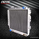 Generic 3 Row 60mm All Aluminum Racing Radiator For 87-06 Jeep Wrangler YJ/