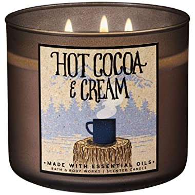 Bath and Body Works 2018 Holiday Limited Edition 3-Wick Candle (Hot Cocoa and Cream)