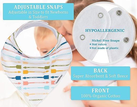 Amazon.com: Baberos para bebé para niñas – Pack de 10 ...