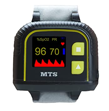 Automatic Wrist Pulse Oximeter with Memory MTS OX-610A | Motion Tolerant  with Finger Sensor,