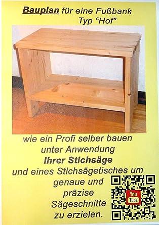 Hocker Als Fussbank Aus Holz Nach Anleitung Selber Bauen Bauplan Und