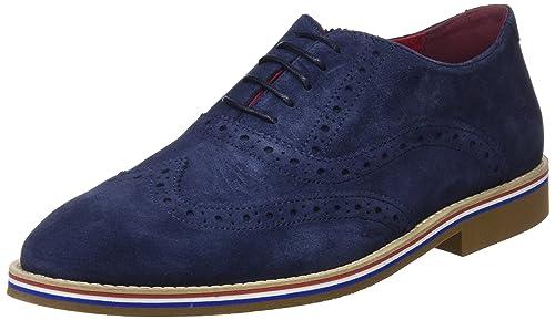 Zapatos de Cordones Oxford para Hombre, Azul (Marino Único), 41 EU El Ganso
