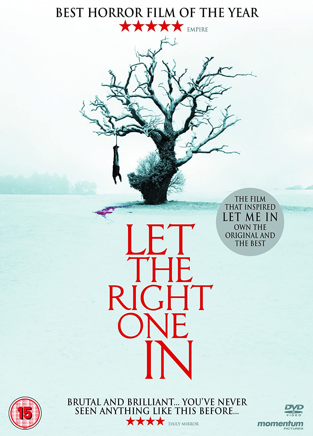 DVD Reino Unido Let the Right One in