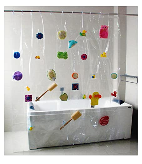 Shower Curtain With 100 Pockets For Photos / Bathroom Accessories Or Other  Decorations / 1.8 X