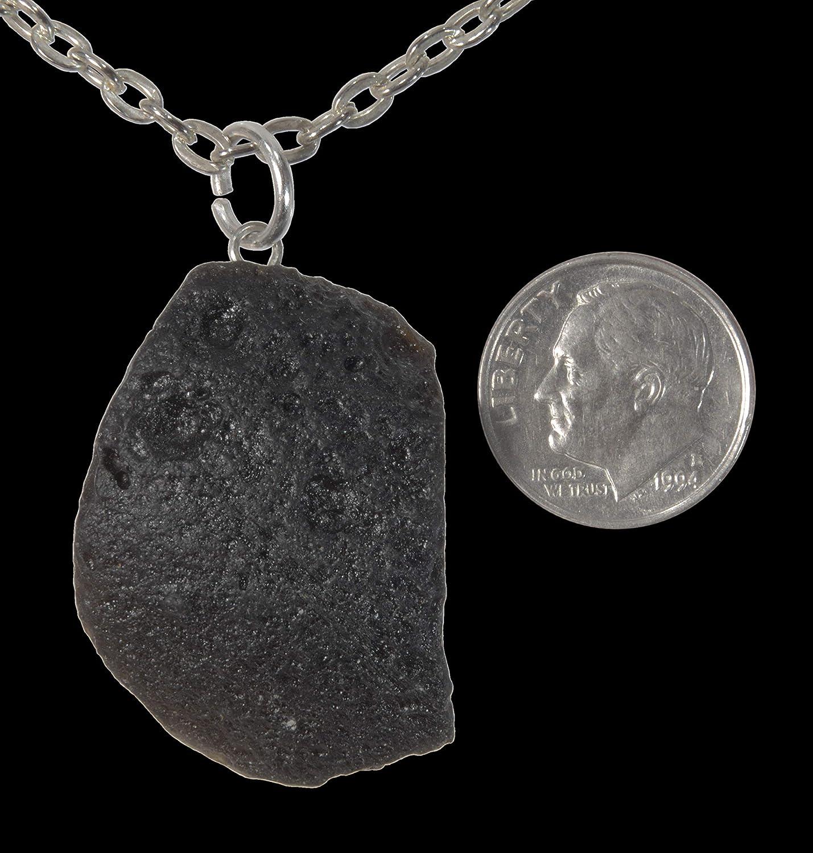 20 Free Chain Bag ViciBeads Pendant Meteorite Caused Tektite Pendant