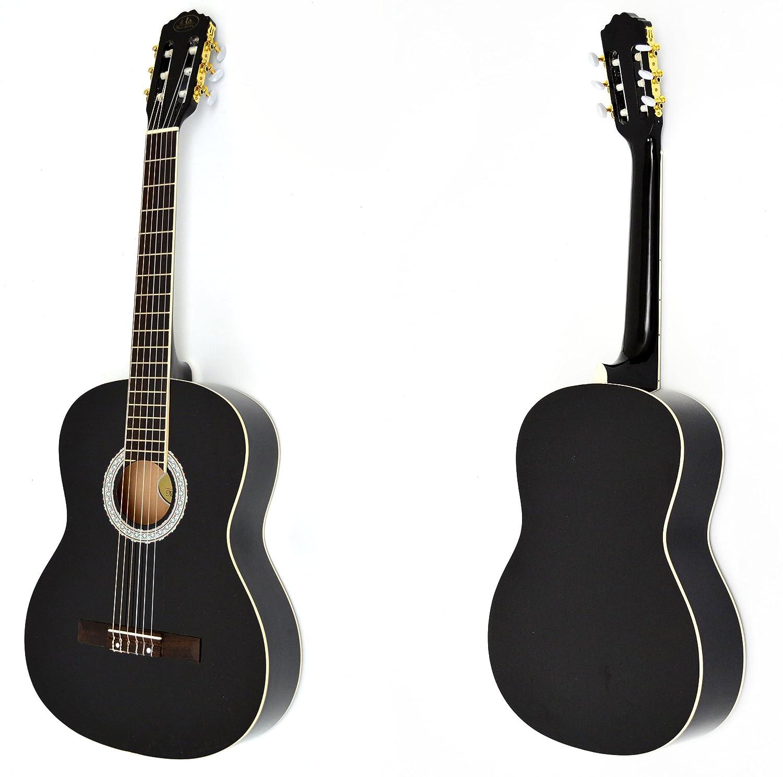 Ts-Ideen 1791 - Guitarra acústica 4/4 con accesorios (funda, correa, afinador de silbato, cuerdas y púas): Amazon.es: Instrumentos musicales