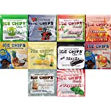 ICE CHIPS CANDY Resealable Pouch Assortment - Contains 10 Flavors!