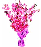 Perfectly Pink Party - Age 80/80th Birthday Weighted Centrepiece