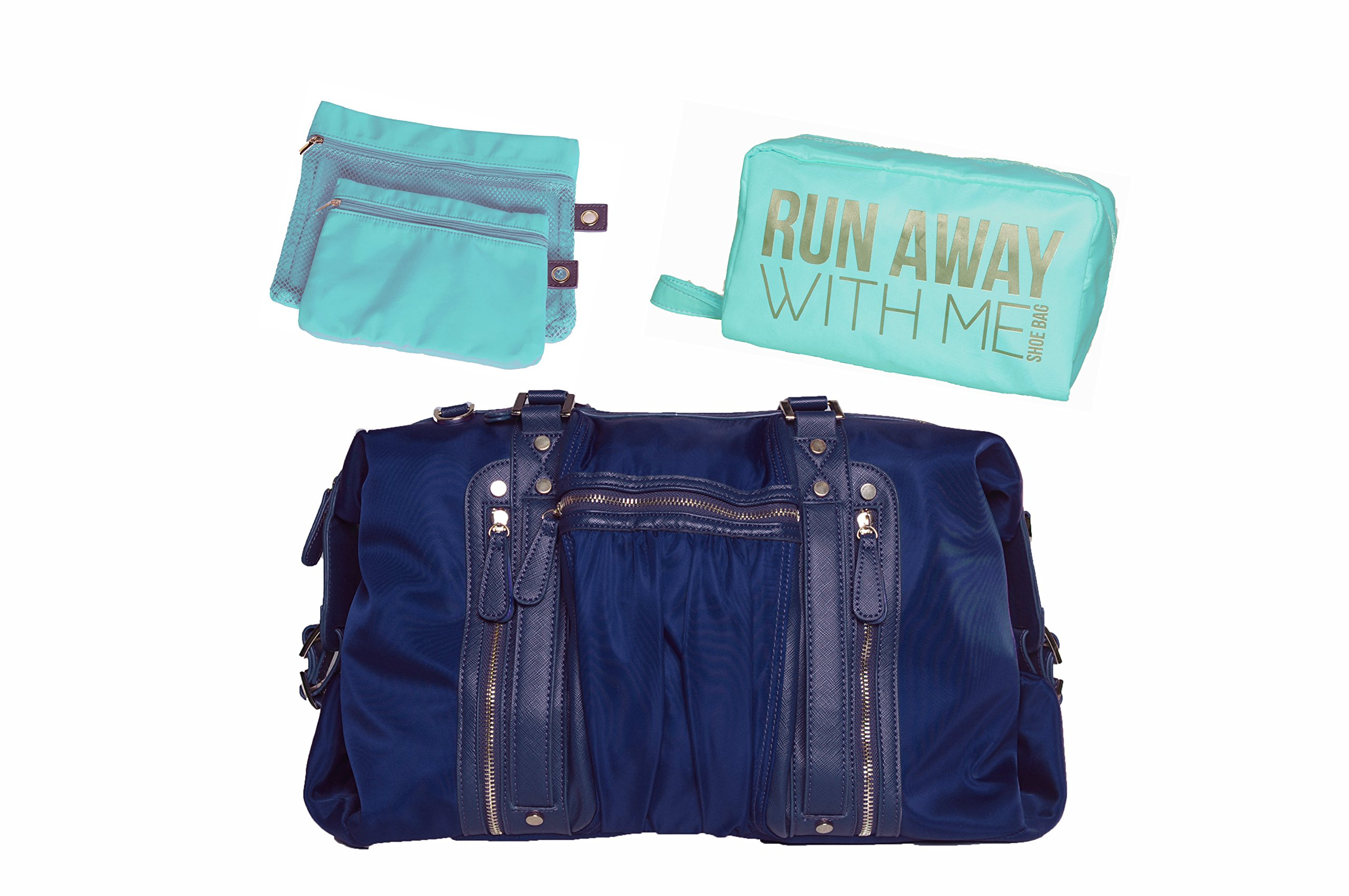 Hang Accessories Navy Athleisure Yoga Tote Bag