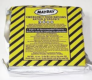Mayday Emergency Survival Food Bar Car Kit 9 Meals/3 Day 3600 Cal