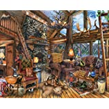 Springbok Puzzles - The Hunting Lodge - 1000 Piece Jigsaw Puzzle - Large 30 Inches by 24 Inches Puzzle - Made in USA…