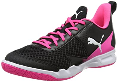 size 40 16a69 2dadc Puma Rise XT 4 Wn s, Chaussures Multisport Indoor Femme, Noir Black  White-Knockout