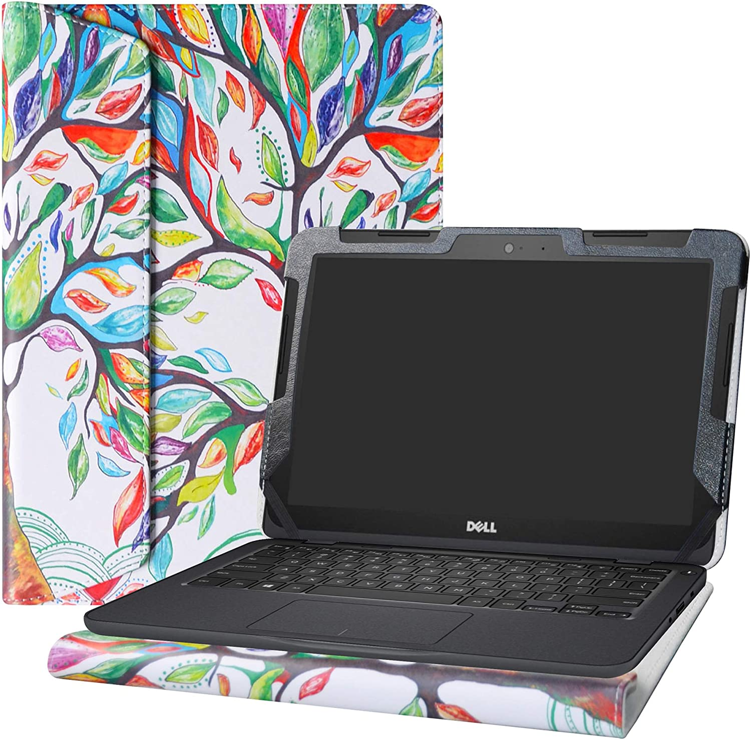 "Alapmk Protective Case for 11.6"" Dell Inspiron Chromebook 11 2-in-1 3181/Chromebook 11 3181/Chromebook 3100 Education 2-in-1 &Dell Latitude 11 2-in-1 3190 Education/3190 Education Laptop,Love Tree"