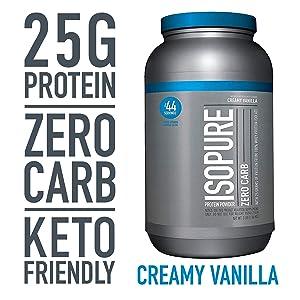 Isopure Zero Carb Keto Friendly Protein Powder