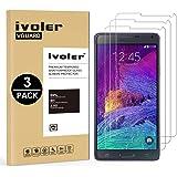 iVoler [3 Pack] Vetro Temperato Compatibile con Samsung Galaxy Note 4 [Garanzia a Vita], Pellicola Protettiva, Protezione per Schermo