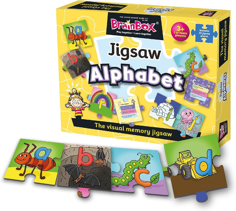 Brain Box-Puzle Alfabeto Brainbox, Multicolor G0991001: Amazon.es: Juguetes y juegos