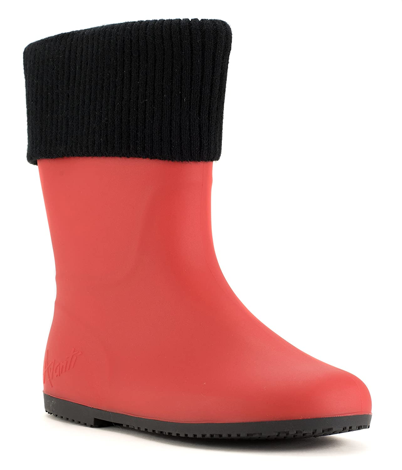 Avanti Storm Rain Boot Waterproof With Removable Knitted Cuff Monogram-Able US|Red Foldable B078SXSFZ2 11 B(M) US|Red Monogram-Able and Black 76112f