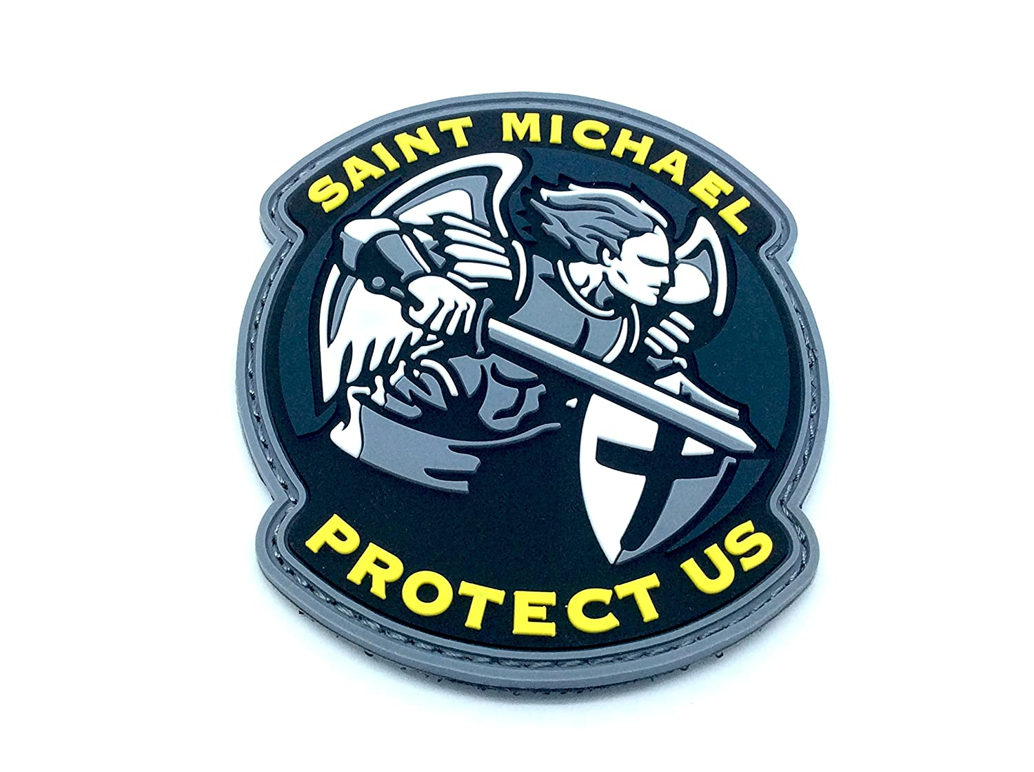 Saint Michael Protect Us Crusader Blu Airsoft Patch PVC Toppa Patch Nation