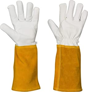 Forging Gloves Heat Fire Resistant Welding Gloves XL for Fireplace, Stove, Grill Gift, Pot Holder, Blacksmith, Animal Handling: Leather Kevlar Lining Tig Welders Glove (Extra Large)