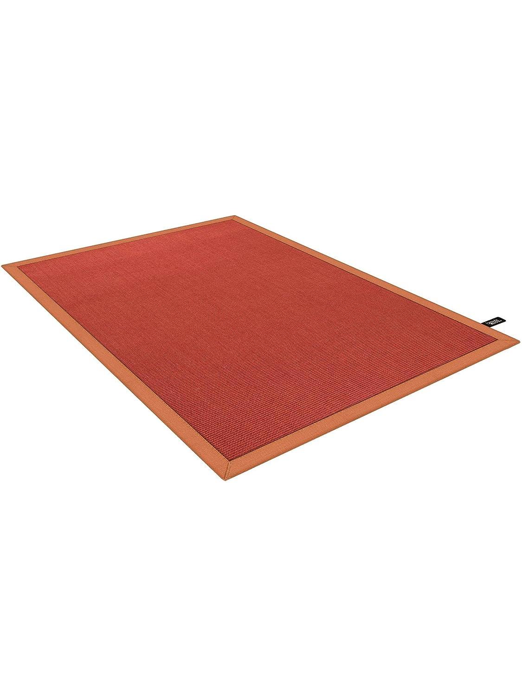 Benuta Sisal Teppich mit Bordüre Rot 120x180 cm     Naturfaserteppich für Flur und Wohnzimmer B01ABMWDBA Teppiche c94bb3