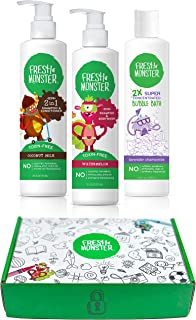product image for Fresh Monster Kids & Baby Gift Set - Natural, Toxin-Free Shampoo & Conditioner, Body Wash, and Bubble Bath (3 Piece)