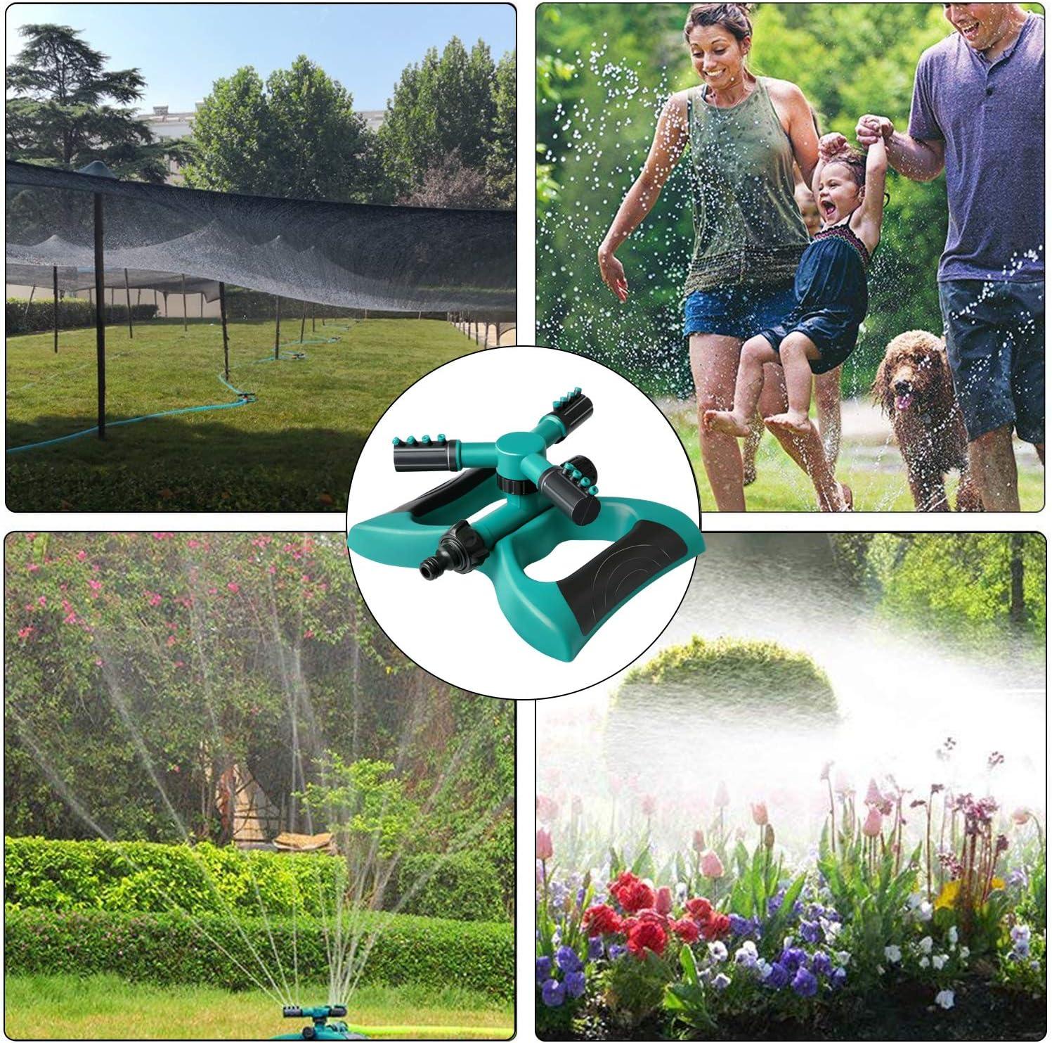 Ancees Aspersor de Riego, Automático 360° Rotación Aspersor de Agua para Jardín Adecuado para Césped Patio Jardín Sistema de Aspersión con 3 Brazos Giratorios: Amazon.es: Jardín