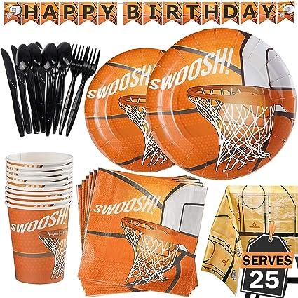 Amazon.com: Juego de accesorios de fiesta de baloncesto de ...