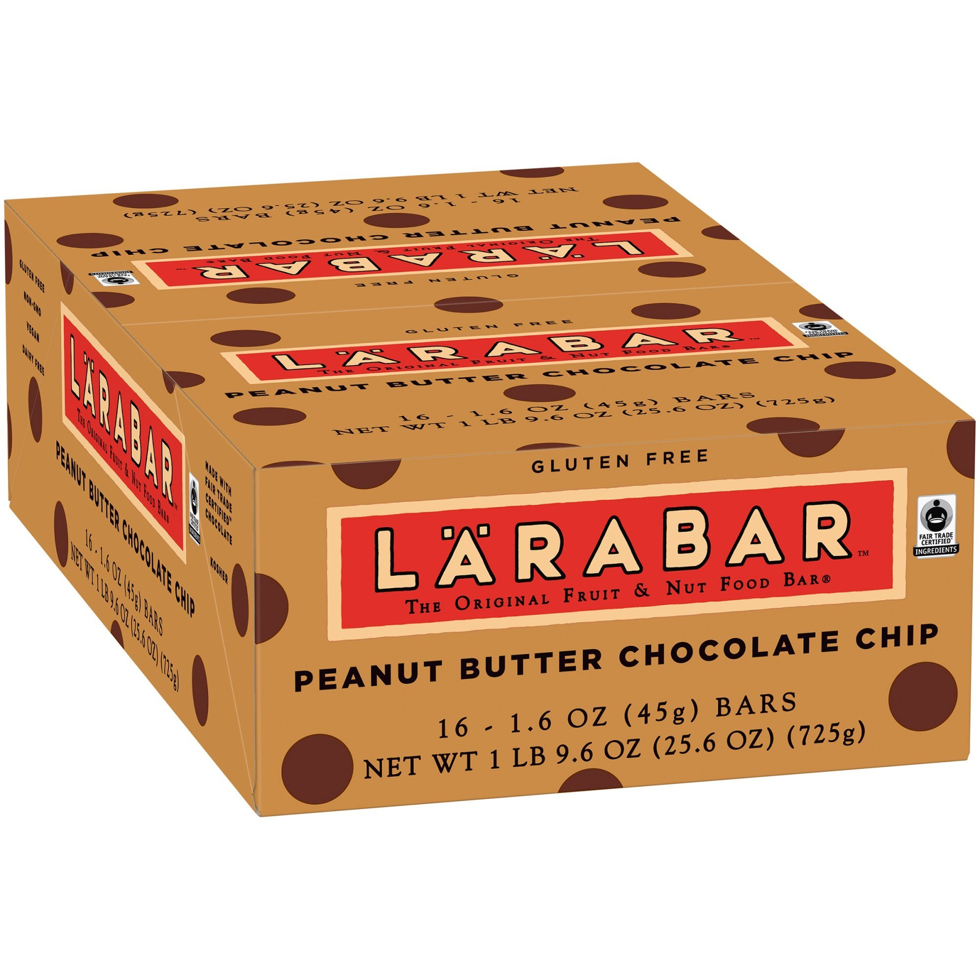 Larabar Peanut Butter Chocolate Chip Fruit & Nut Bars 16 ct Box (Pack of 5) by Larabar