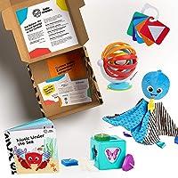 Baby Einstein Baby's First Shapes & Senses Teacher Developmental Toys Kit and Gift Set, Newborn and up