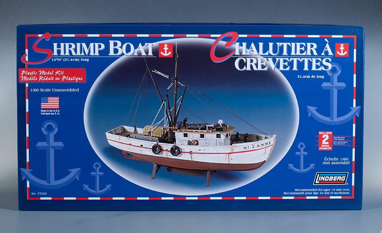 Lindberg 1//60 Scale Shrimp Boat Alpha International Inc 77223 lindberg-shrimp-boat77223-fbu
