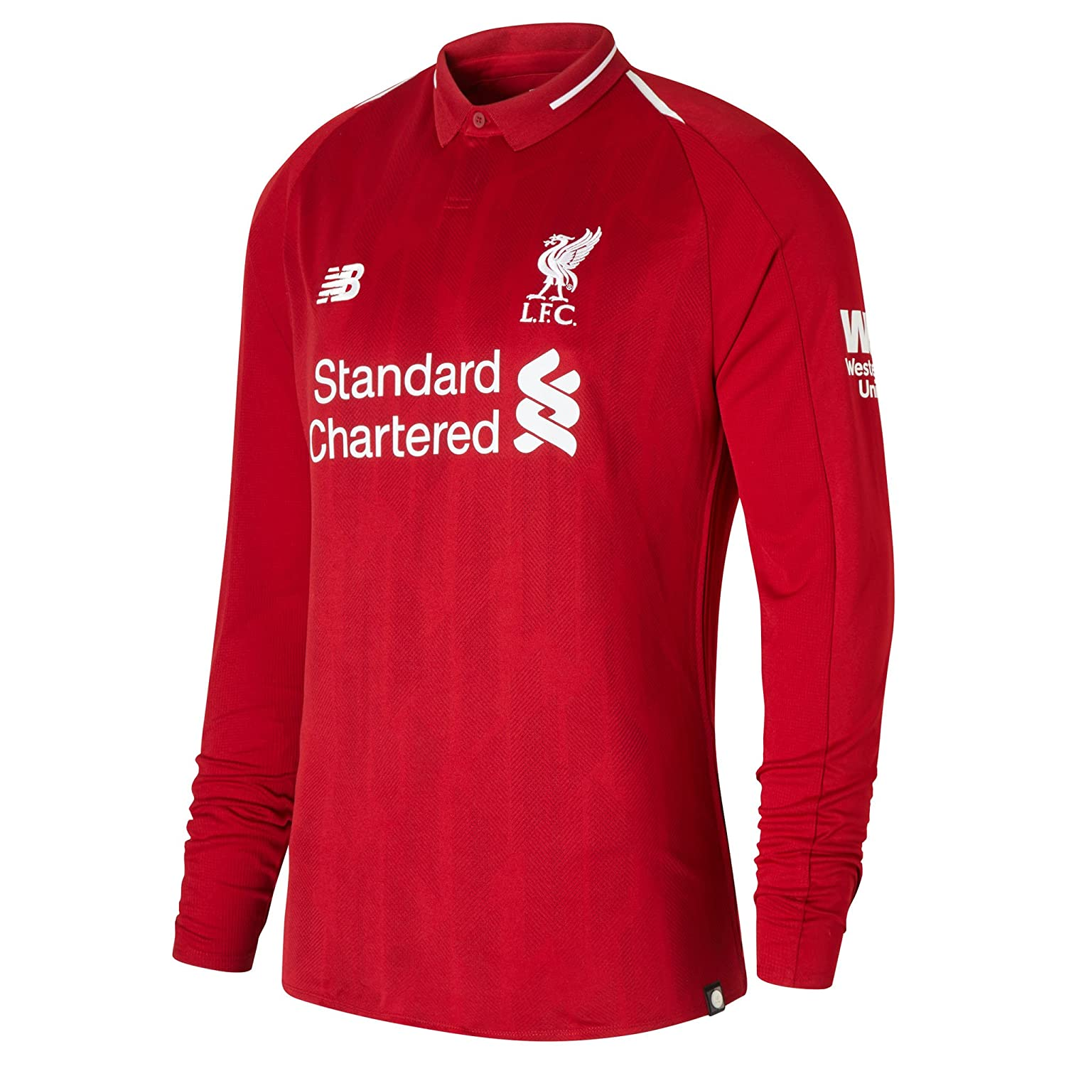 f825d2d01 Liverpool FC 18 19 Home L S Football Shirt - Red  Amazon.co.uk  Clothing