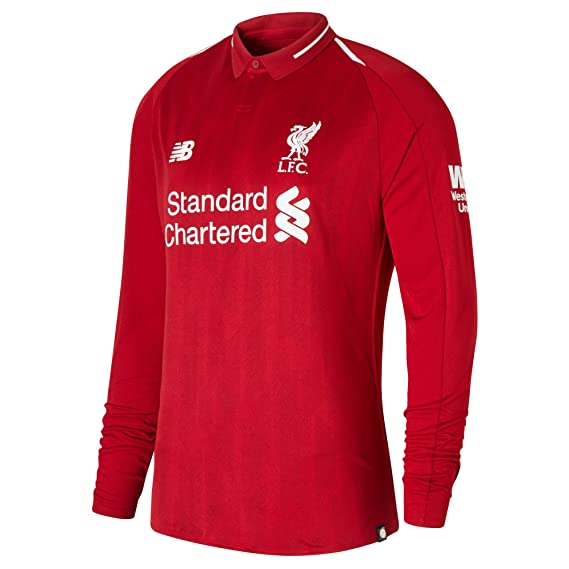 303227c37bf Liverpool FC 18 19 Home L S Football Shirt - Red  Amazon.co.uk  Clothing