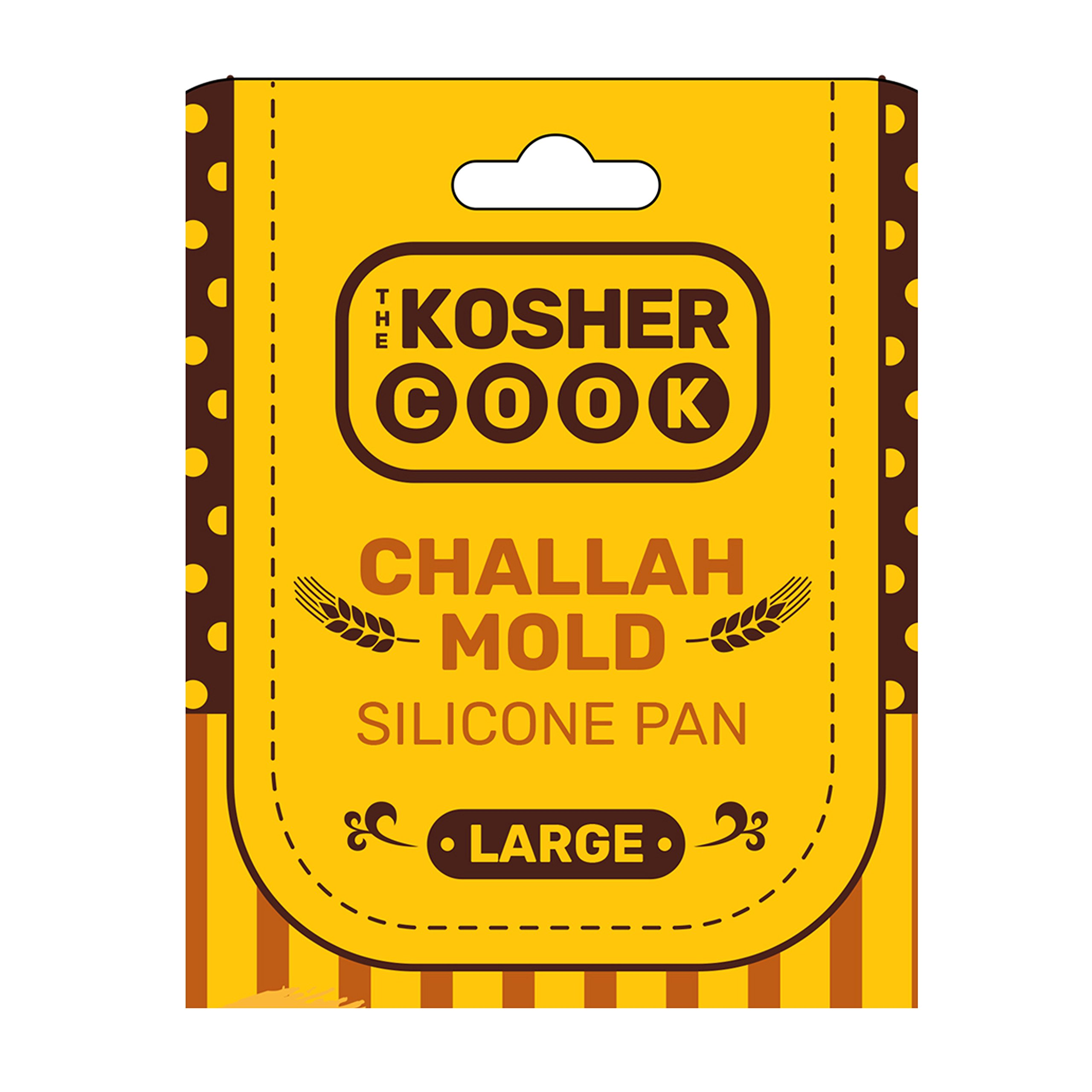 The Kosher Cook Silicone Braided Challah Pan - Perfect Challah Bread Braid Baking Mold, No Shaping Required - Large by The Kosher Cook (Image #1)