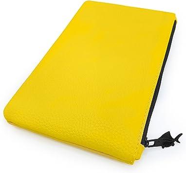 Fat Belly Fish - Estuche de piel sintética, color amarillo pastel: Amazon.es: Oficina y papelería
