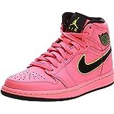Nike Air Jordan 1 Retro Prem, Women's Basketball Shoes, Black (Hot Punch/Black/Volt 600)