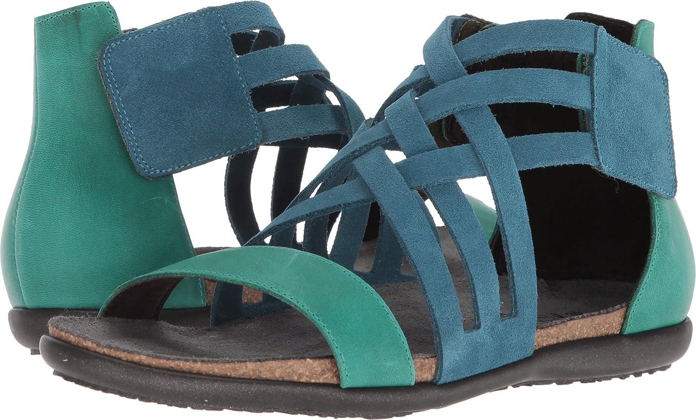 NAOT Women's Marita Sandal B0742PM82N 38 M EU|Pacific Blue, Oily Emerald