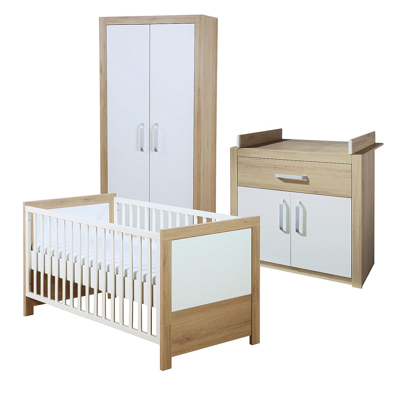 roba 39200 Kinderzimmer Set 'Louisa' bestehend aus Kinderbett, schmaler Wickelkommode und 2-türigem Kleiderschrank